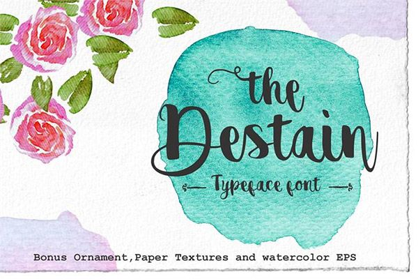 20 Free Watercolor Font Styles For Designers Free Watercolor