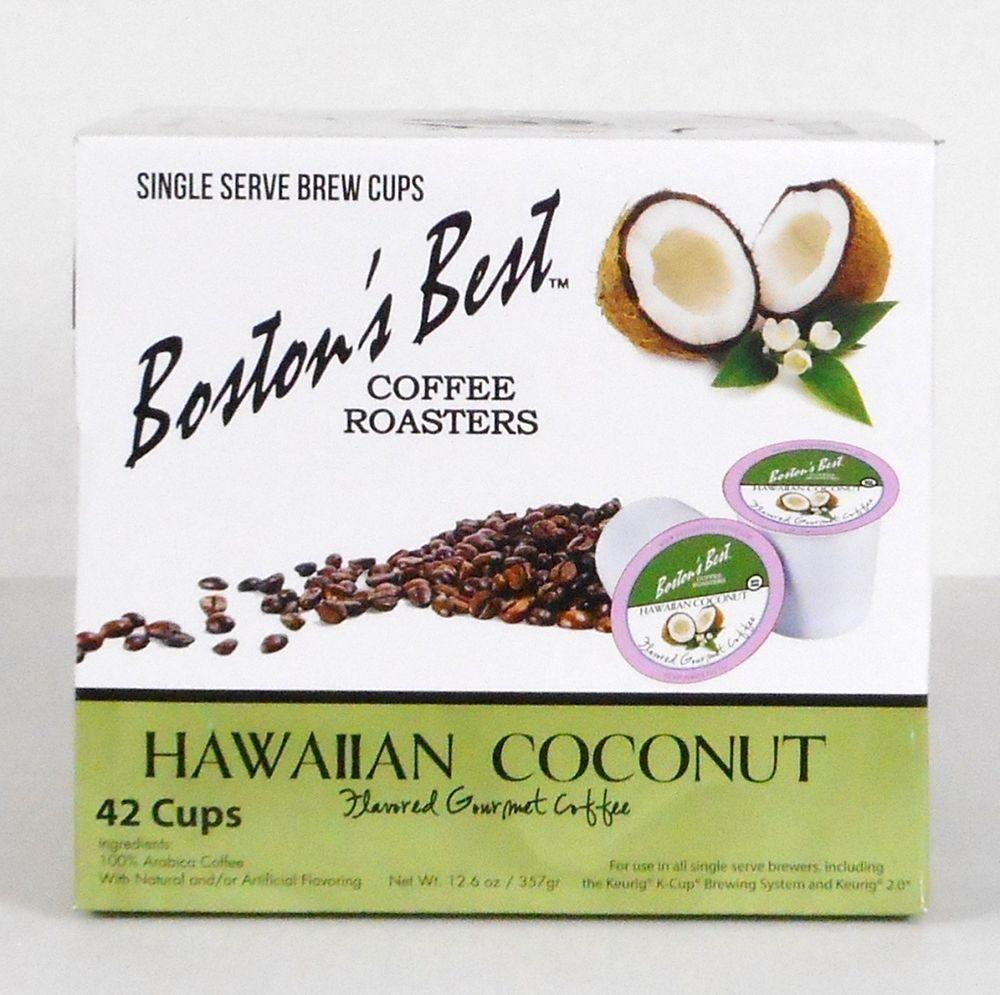 Bostons best hawaiian coconut flavored coffee 42 count