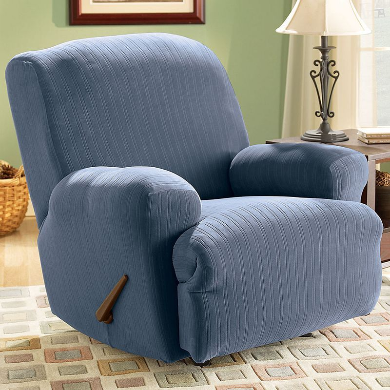 sure fit pin striped recliner slipcover products recliner cover rh pinterest com
