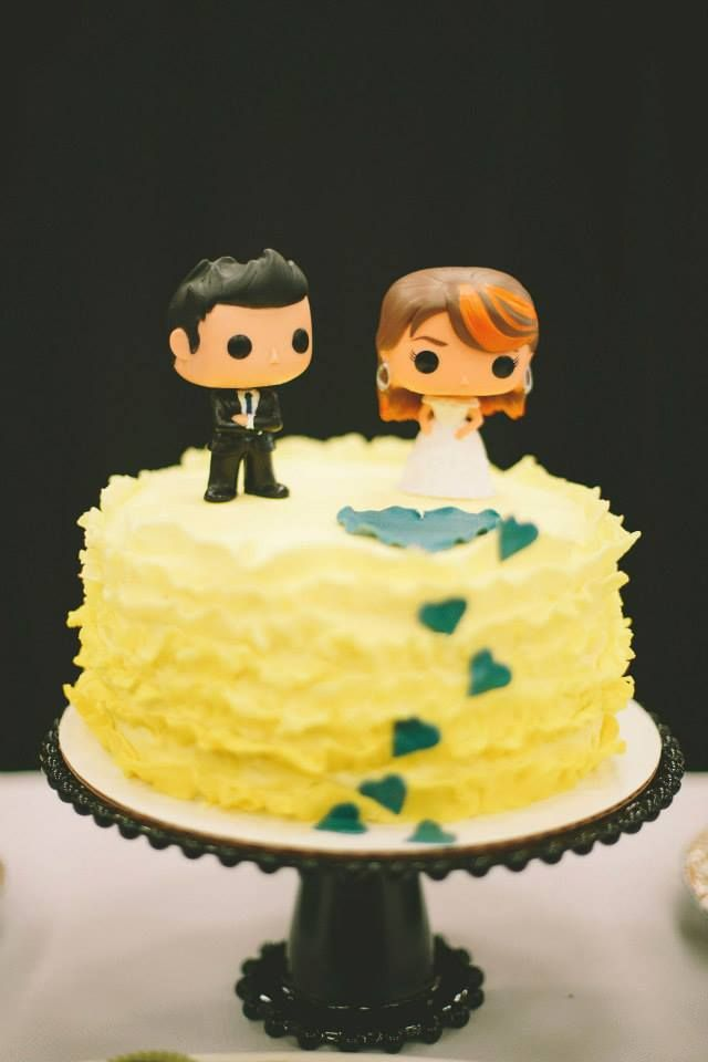 Custom POP vinyl figure cake toppers made by Shyloh. Ombre and ...