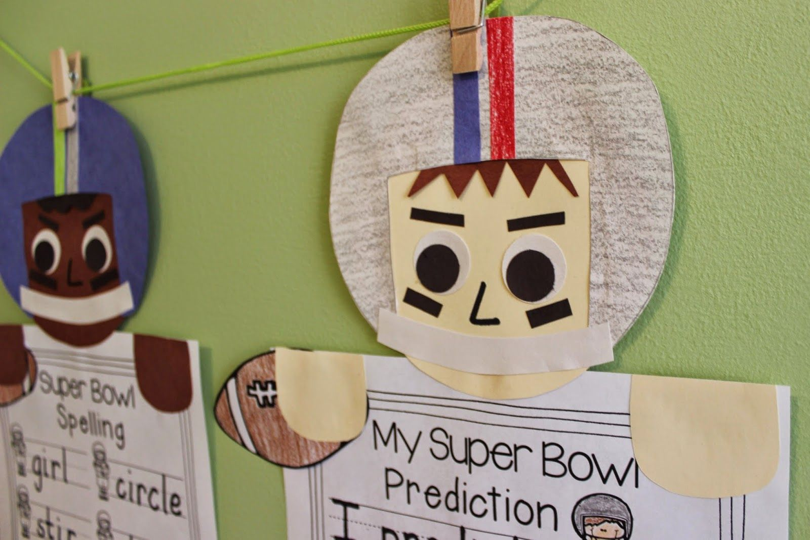 Free Super Bowl Craft Spelling Practice Or Writing