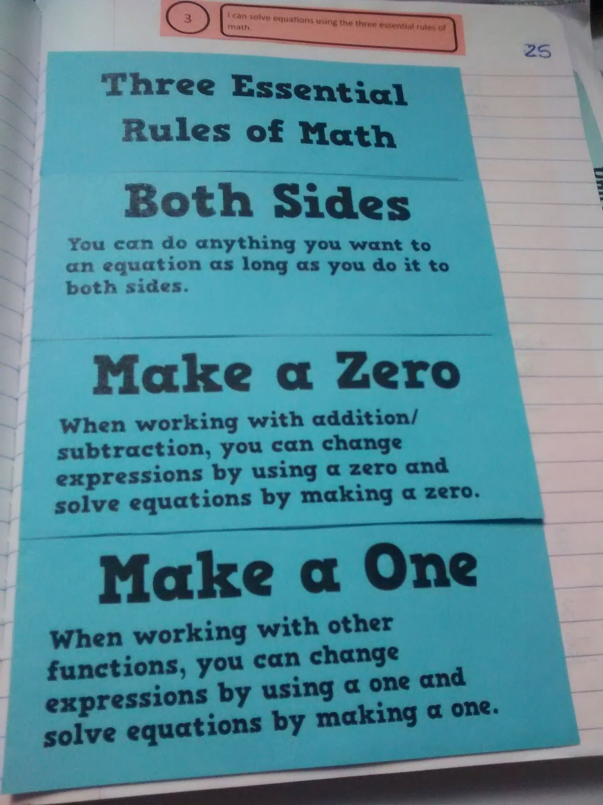Solving Equations Using The Three Essential Rules Of Math Foldable Solving Equations Math Foldables Equations What are three rules for adding and