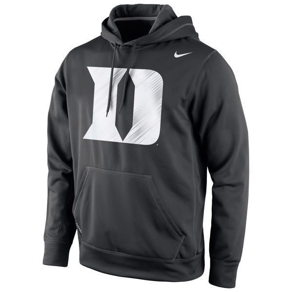bbb03c9c78922 Duke Blue Devils Nike Warp Logo Therma-FIT Hoodie Black ( 70) ❤ liked on  Polyvore featuring tops