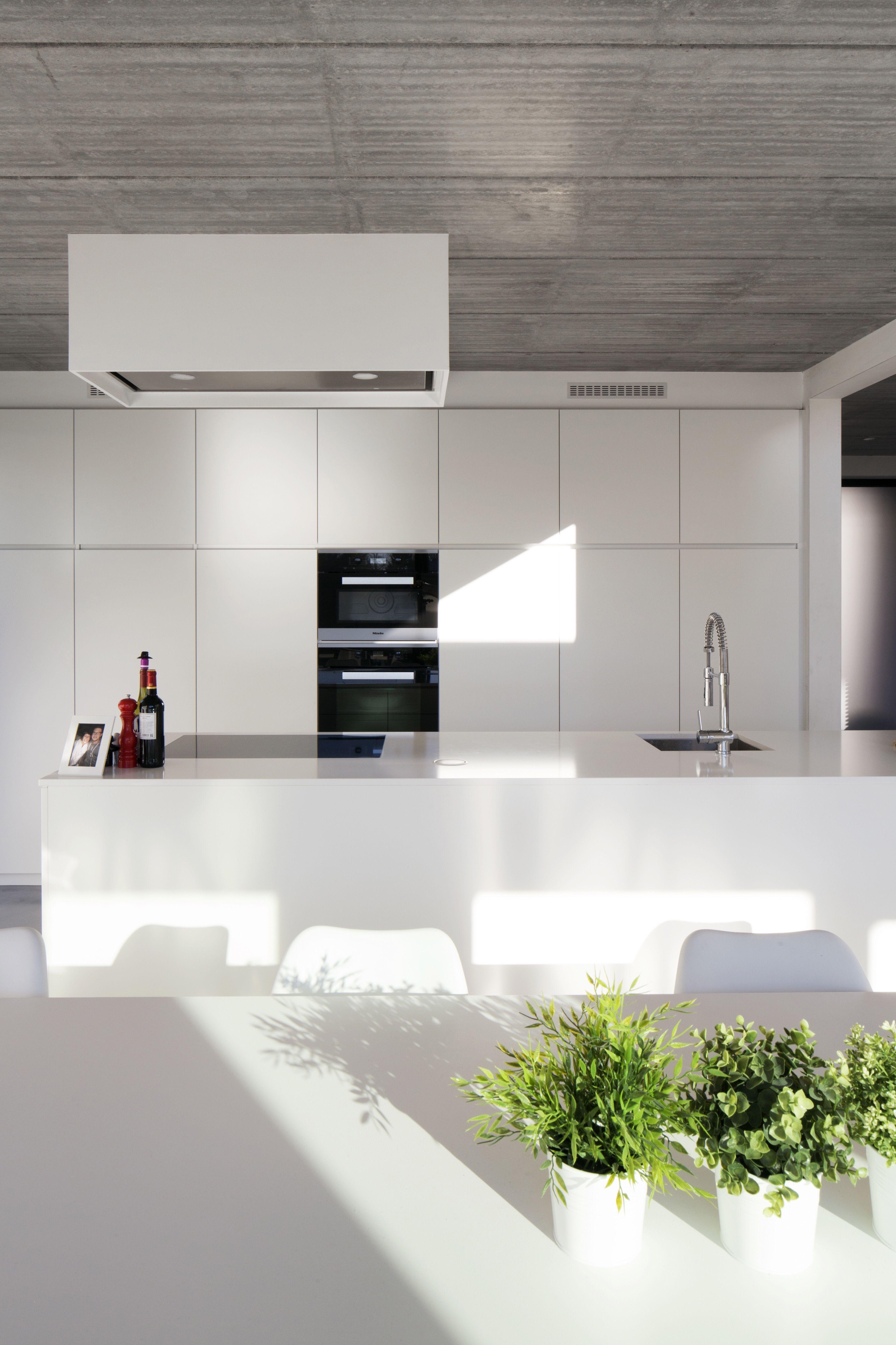 Keuken wit + beton