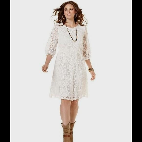 76 Off Ing Dresses Skirts Macys Ing Plus Size White Laceg 580