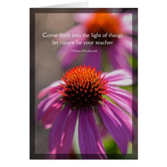 Echinacea Nature Quote Blank Card Zazzle Com Nature Quotes Blank Cards Echinacea