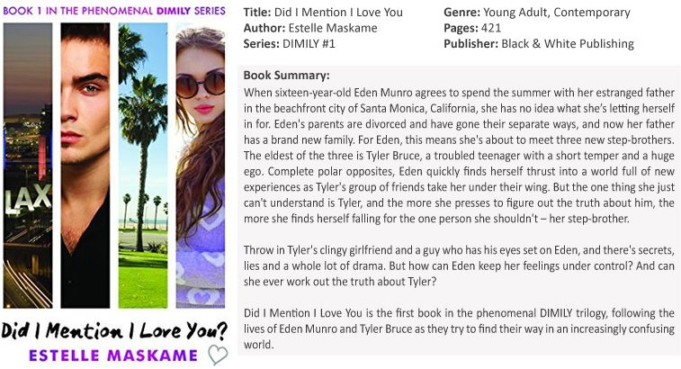 Did I Mention I Love You By Estelle Maskame Review Contemporary Novels My Love Book Summaries