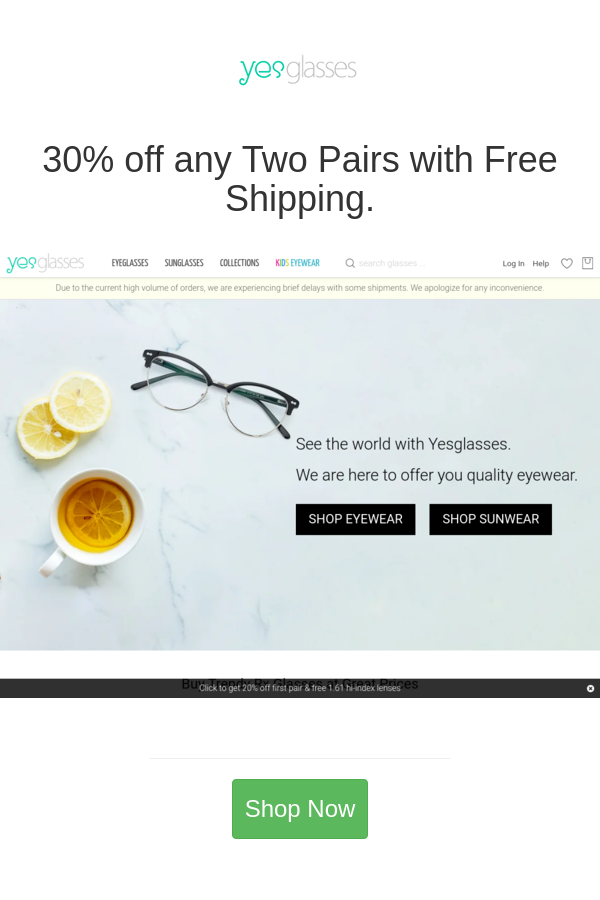 Best Deals And Coupons For Yesglasses In 2020 Eyewear Shop Coupons Coupon Codes