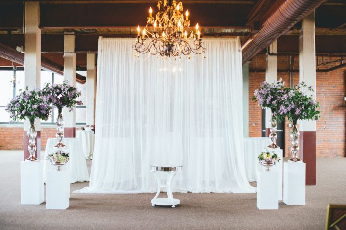 Romantic and Rustic Cleveland Wedding | Cleveland, Wedding altars ...