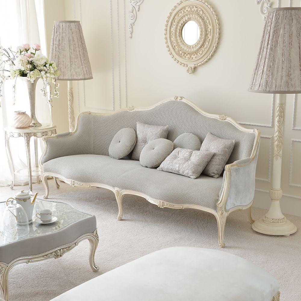 Venetian Style Ivory Italian Sofa at Juliettes