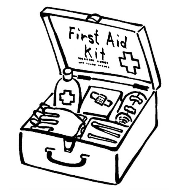 First Aid Box For Medical Purposes Coloring Page : Coloring Sky Super Coloring  Pages, Coloring Pages, First Aid