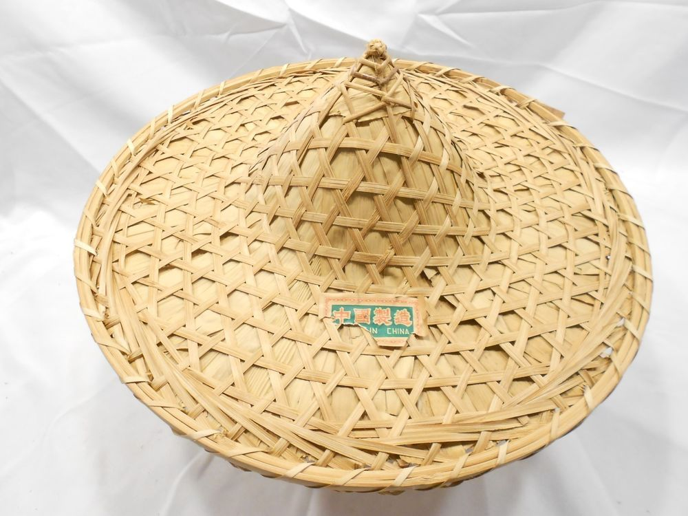 71812d1e8 ASIAN WOVEN BAMBOO RICE PADDY HAT, 19