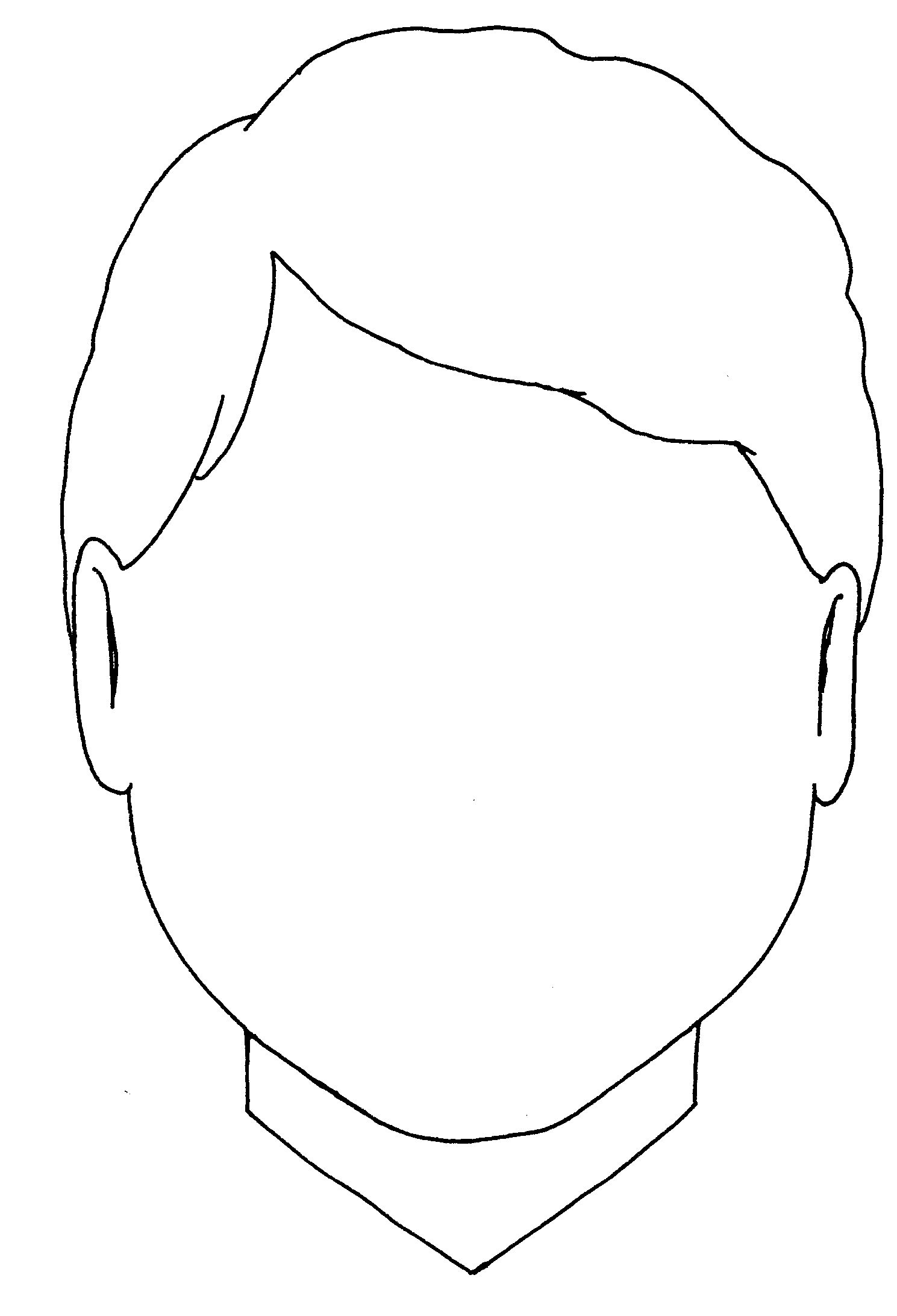 Blank Boy Face Colouring Coloring Pages Quoteko Face Outline