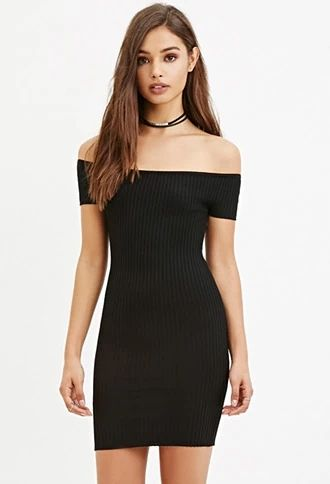Off The Shoulder Bodycon Dress Forever 21 Thelatest Forever