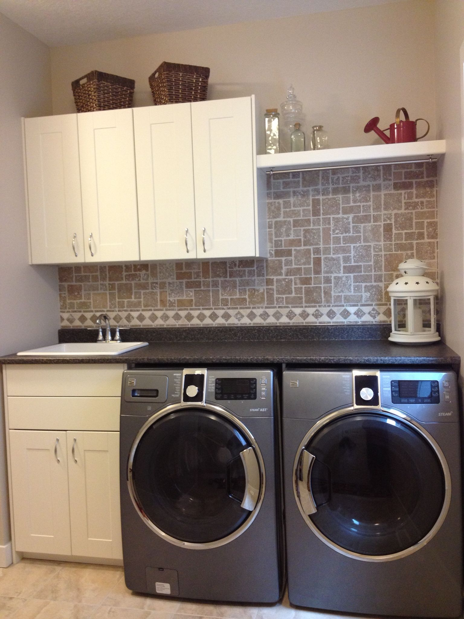 put cupboards where you can reach them instead of above the washer rh pinterest com