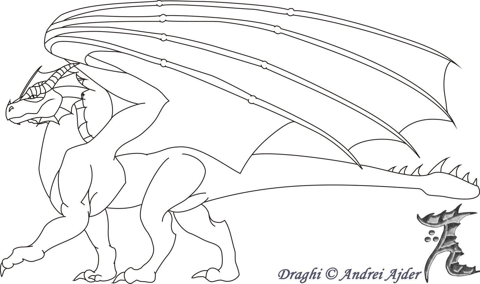 Risultati immagini per draghi da colorare | Draghi | Pinterest
