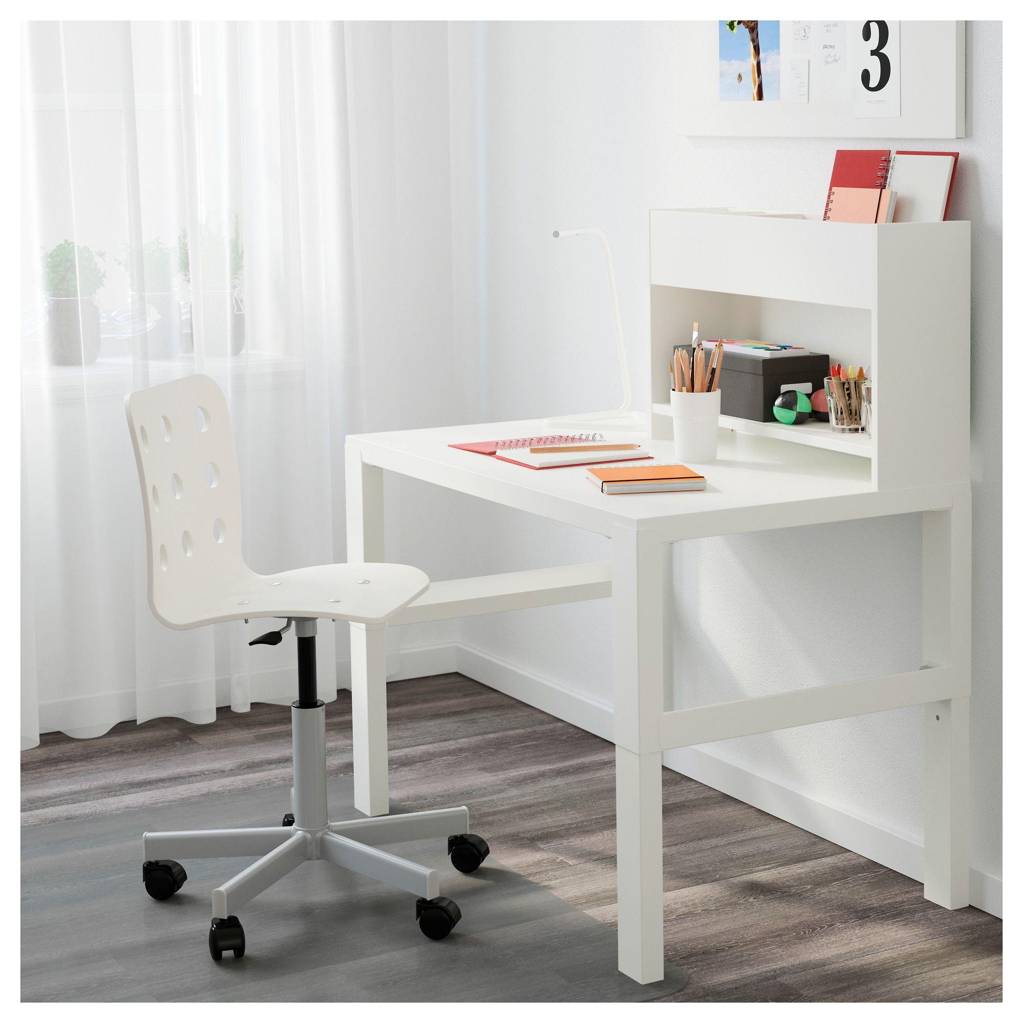 PÅHL white, Desk with addon unit, 96x58 cm IKEA Ikea