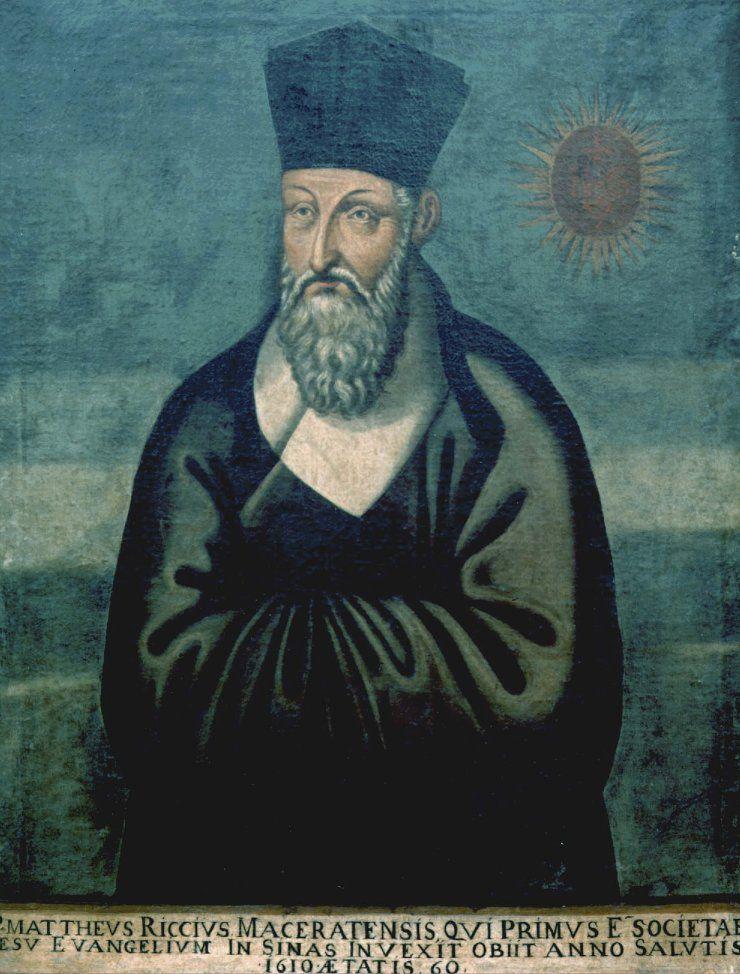 Matteo Ricci (Macerata, 1552-Pekín, 1610) fue un misionero católico jesuita, matemático y cartógrafo italiano. La Compañía de Jesús lo destinó a China donde pasó casi treinta años predicando el cristianismo.