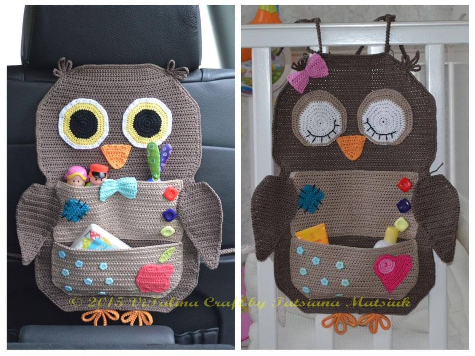 Crochet Pattern – Owl Treasure Organiser
