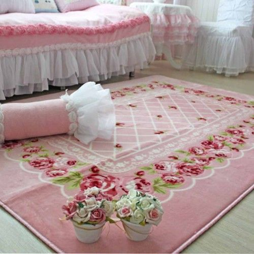 pink chic rose rug romantic styles pinterest tapis shabby chic shabby et shabby chic. Black Bedroom Furniture Sets. Home Design Ideas