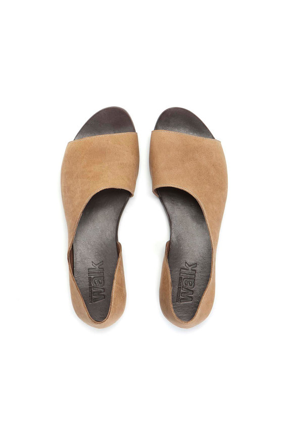 c94aa0e0f9cdd9 Camel Open toe womens shoes by WalkByAnatDahari on Etsy