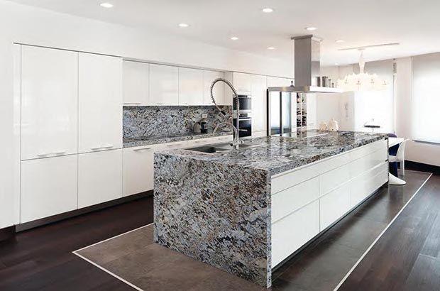 Isla de cocina en granito lennon un toque de vitalidad - Cocinas de granito ...