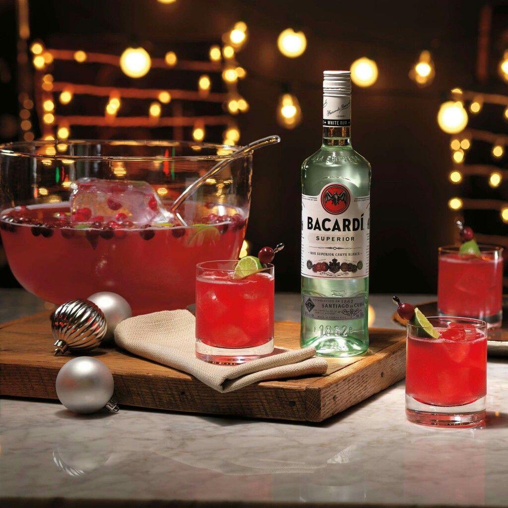 BACARDI Gingerberry Rum Punch: 1 Part BACARDI Superior Rum