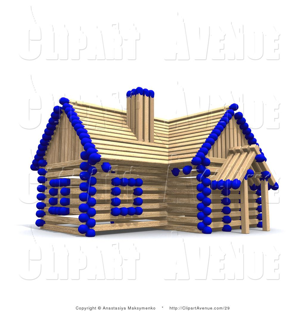Stick House Clipart