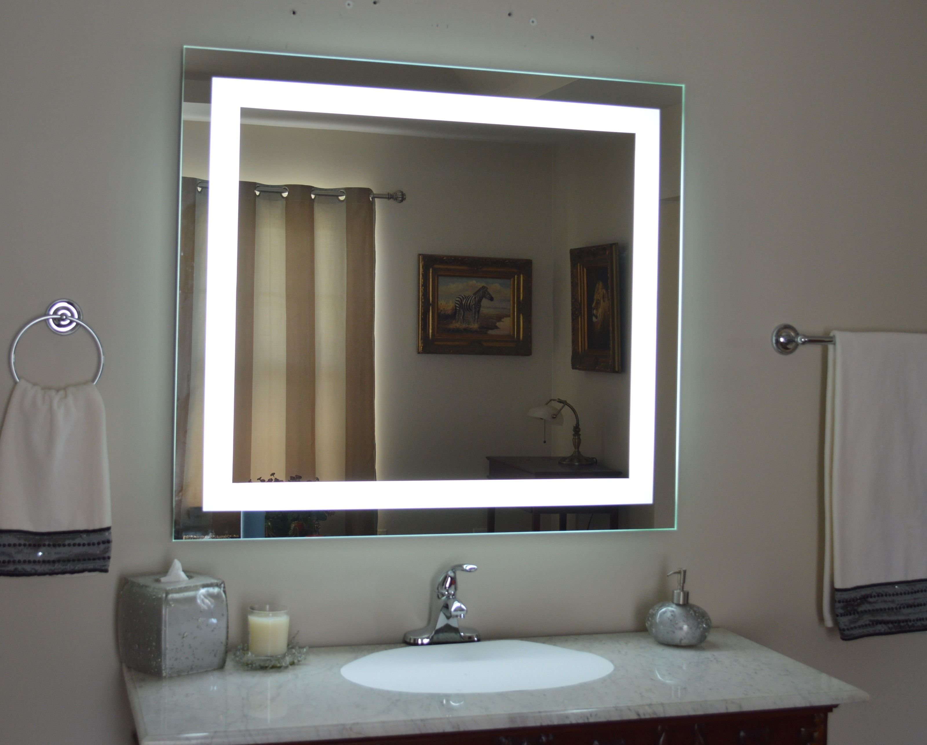 Lighted Wall Mounted Magnifying Mirror  Httpbottomunion Prepossessing Bathroom Wall Mirrors Decorating Design