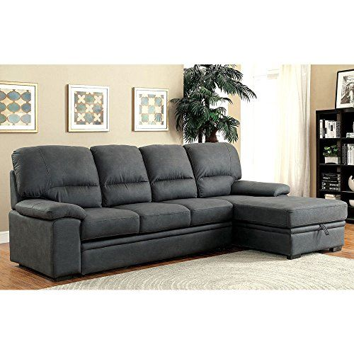 1perfectchoice Alcester Sectional Sofa Pullout Sleeper Bed Chaise Underneath Storage Graphite You Can Find More Details By Visiting Sectional Sleeper Sofa Sectional Sofa Sleeper Sectional