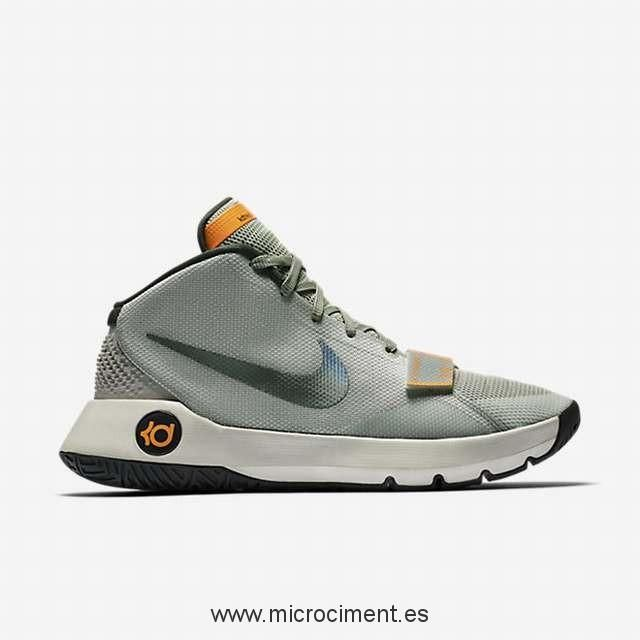 the latest 3e33a 900fe Nike KD Trey 5 III Hombre Basketball Zapatos - Lunar Gris Deep Pewter Bright  Citrus Negro