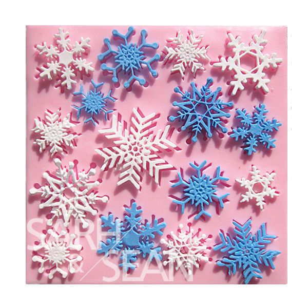 Christmas Snowflake Silicone Fondant Cake Mold Soap Mould Clay Chocolate SO