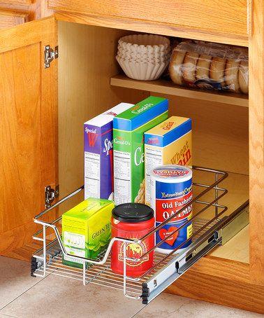 chrome 11 sliding cabinet organizer kitchen pinterest rh pinterest com