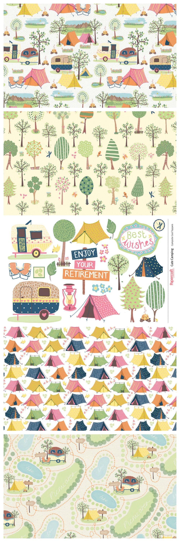 cute camping free digital papers printables digital paper free rh pinterest com