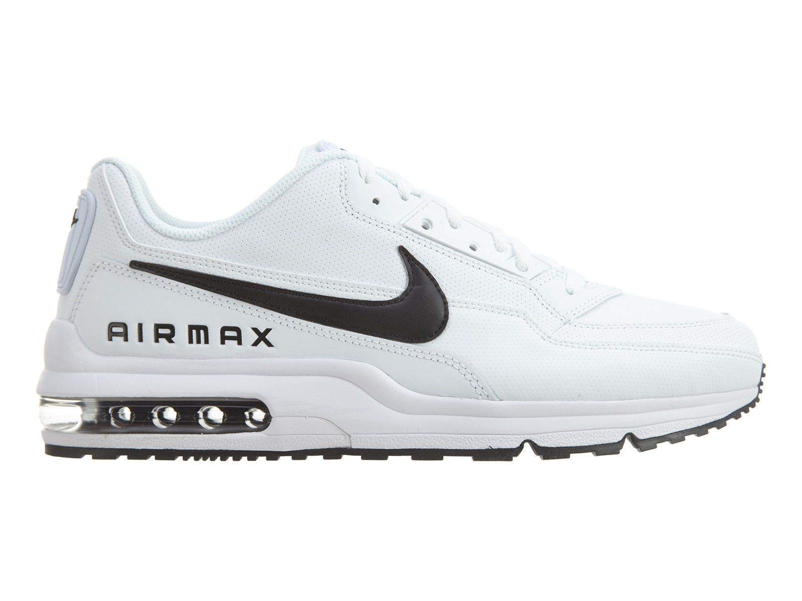 online store 034af 28fb2 Nike Air Max LTD 3 Mens 687977-107 White Black Leather Running Shoes Size 10
