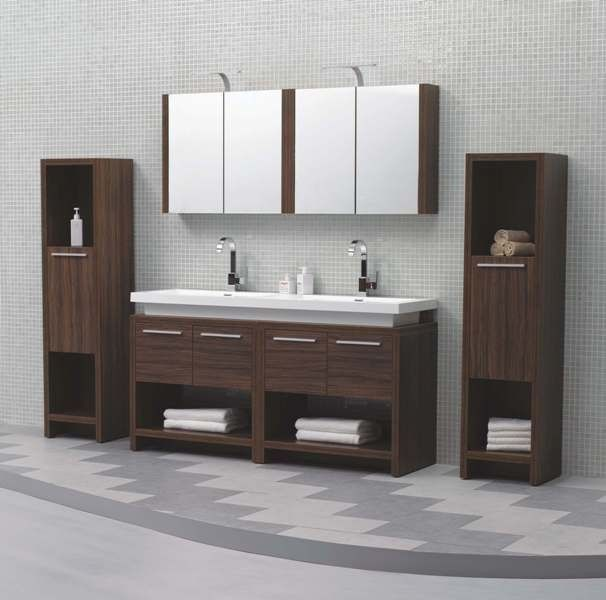 aqua decor sparta double sink modern bathroom vanity set w medicine rh pinterest com