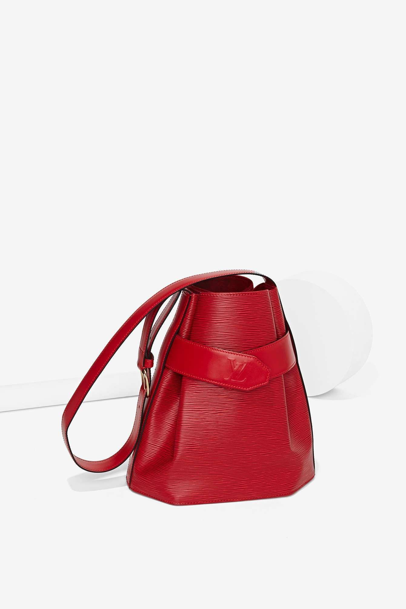 59f2ddbc696e Vintage Louis Vuitton Sac D Epaule Epi Leather Bag - Red