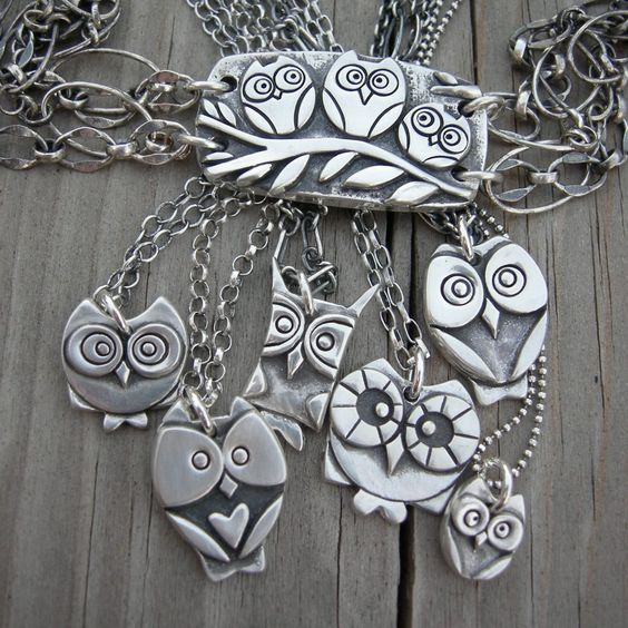 Sterling silver owl pendants made to order owls pinterest sterling silver owl pendants made to order mozeypictures Image collections