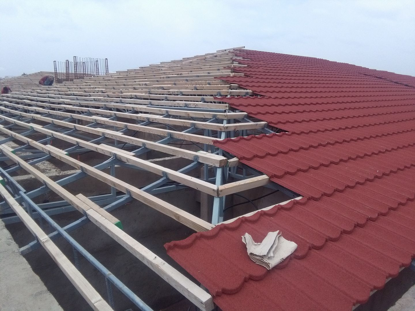 Color Stone Coated Metal Roofing Sheets Nigeria Step Tiles In 2020 Sheet Metal Roofing Metal Roof Roofing