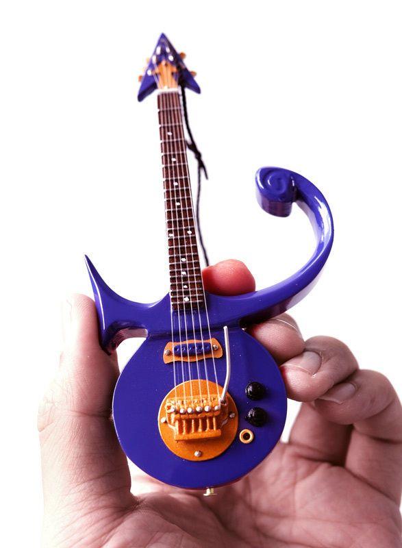 Axe Heaven Prince Signature Purple Symbol Miniature Guitar Christmas Ornament
