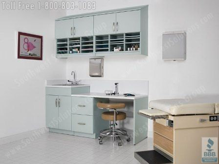 Modular Exam Room Casework | Movable Medical Casework Cabinets