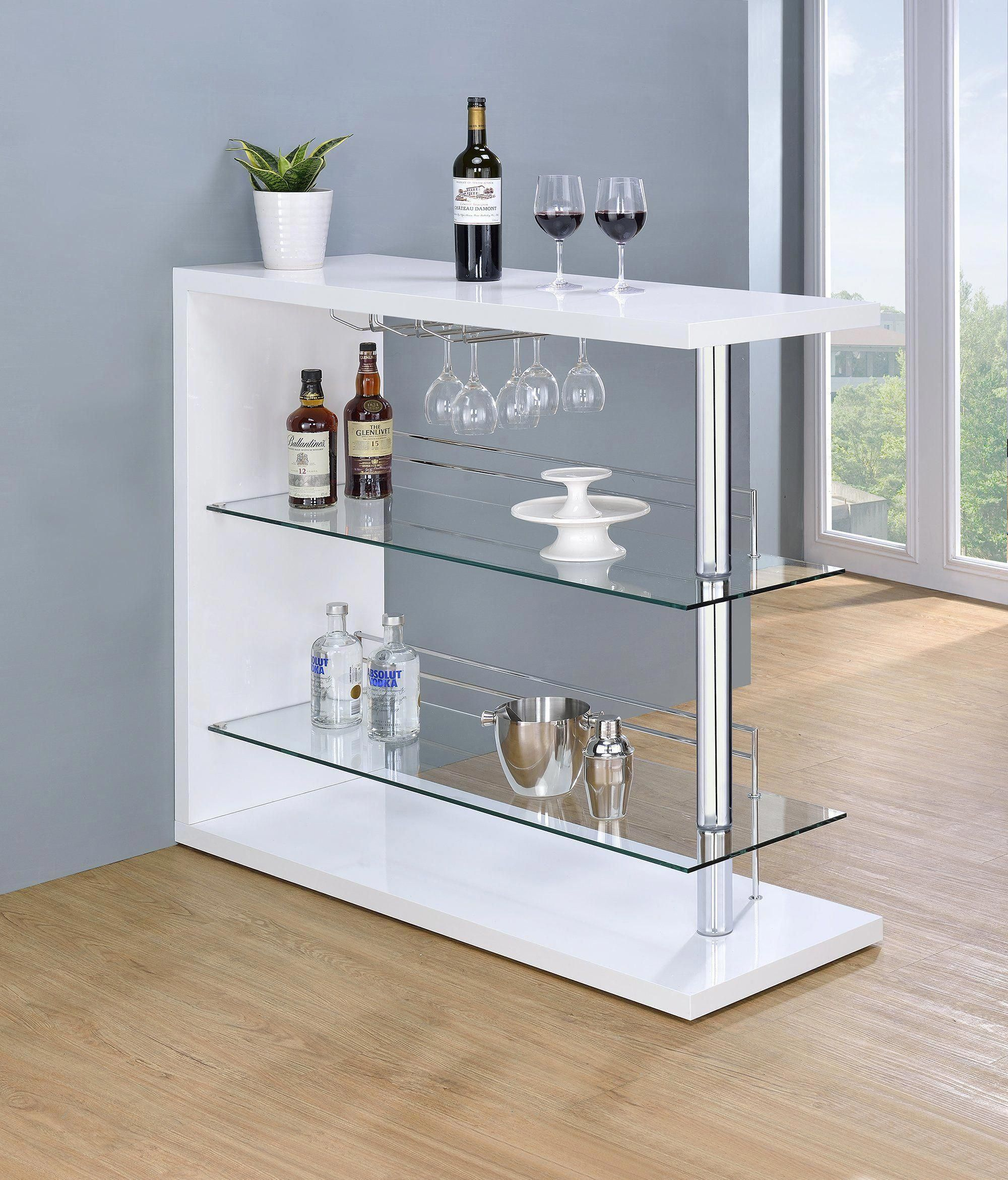 glossy white contemporary bar units contemporary bar table in 2018 rh pinterest com