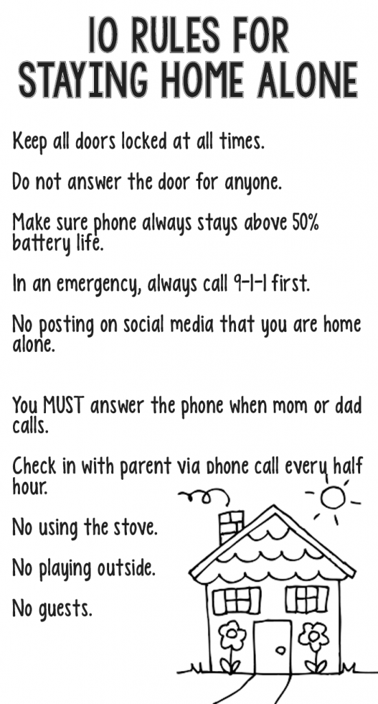 10 rules for kids staying home alone parent knowledge kids rh pinterest com