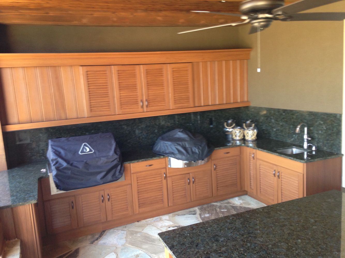 Custom built Naturekast kitchen with TV cabinet