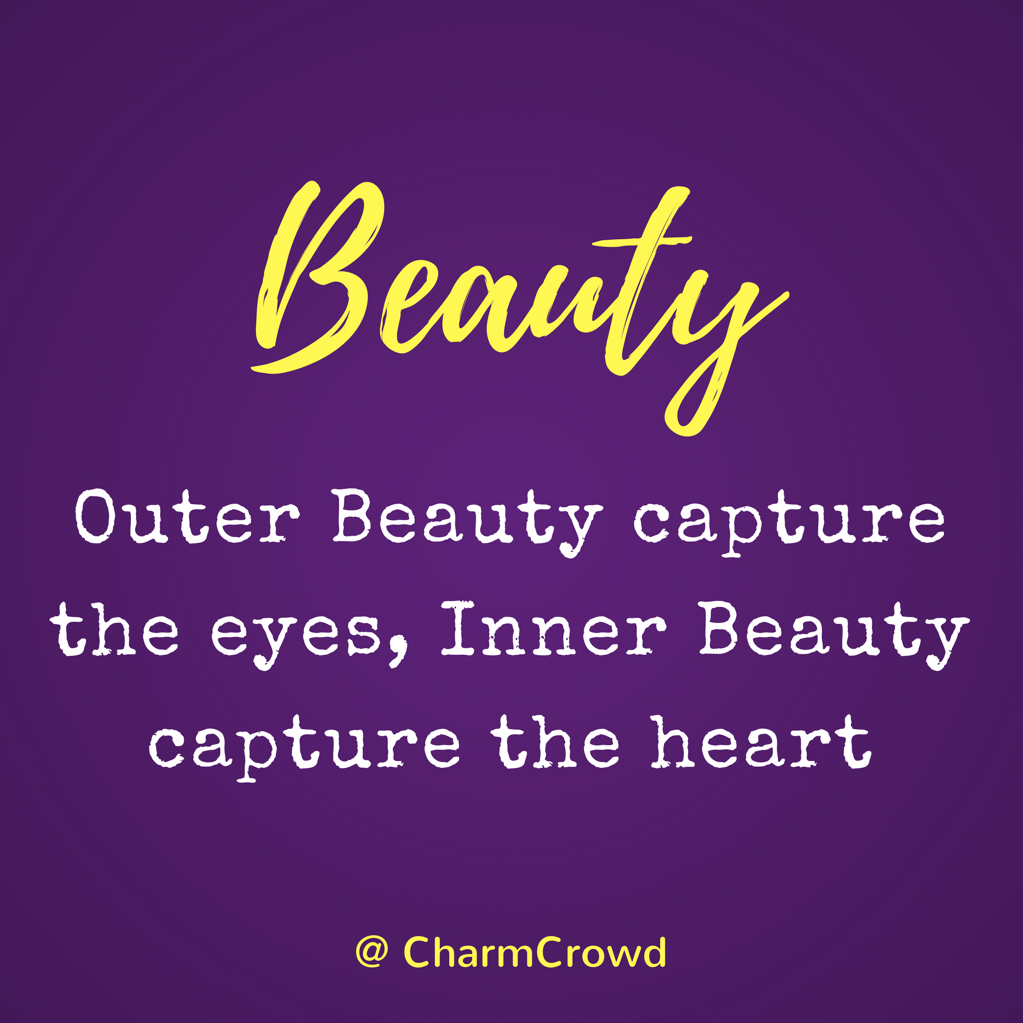 inner beauty is the real beauty