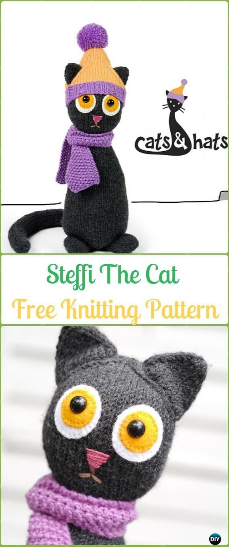Amigurumi Knit Cat Toy Softies Free Patterns