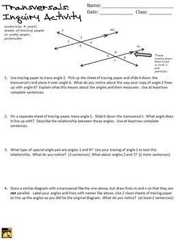 discovering angle relationships in transversals inquiry activity