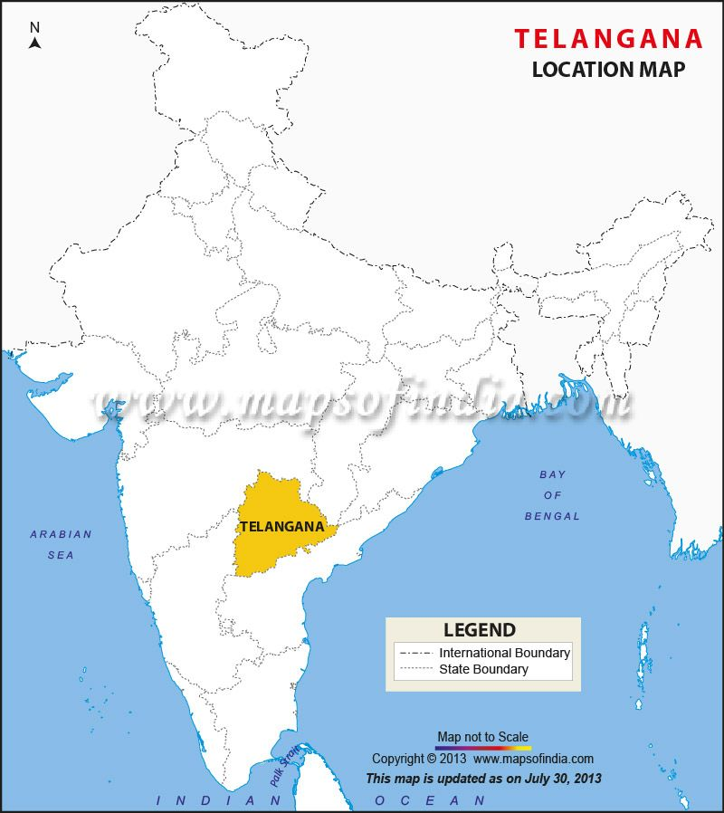 Location of Telangana   State Maps   India map, Location map