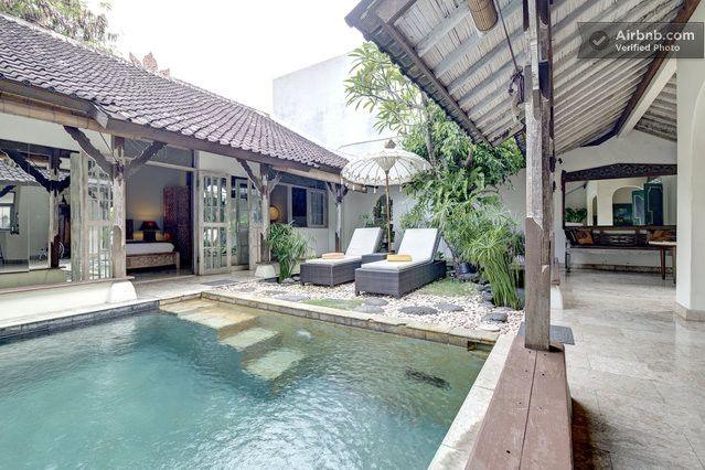 Atrium Style House Built Around The Pool