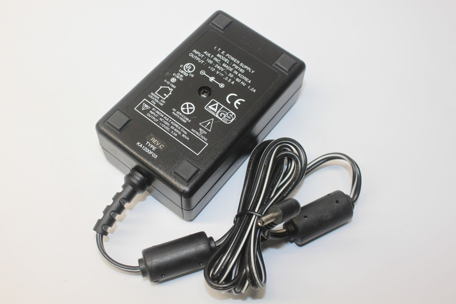 New Ault Pw160 Ka1200f03 Ac Adapter Dc 12v 3 5a Ite Power Supply Power Supply Adapter Ault